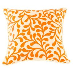 Cotton pillow with an embroidered motif.  Product: PillowConstruction Material: CottonColor: Ora...