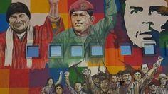 A mural in Cochabamba, Bolivia, expressing solidarity with Venezuela's Bolivarian Revolution. | Foto: Reuters