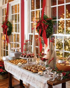 christmas dessert table/ it makes you just want to be there.