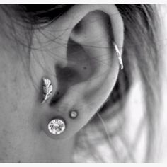 Cartilage and tragus piercing