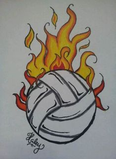 Ideas Sport Volleyball Art For 2019 Sharpie Artwork, Sharpie Drawings, Pencil Art Drawings, Cool Art Drawings, Art Drawings Sketches, Easy Drawings, Drawing Ideas, Summer Drawings, Volleyball Posters