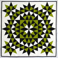 kaleidoscope quilts » First Light Designs grandmother's surprise, by Joyce Giesler