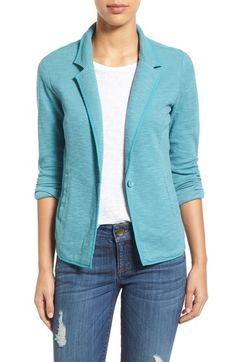 Caslon® One-Button Knit Blazer (Regular & Petite) available at #Nordstrom