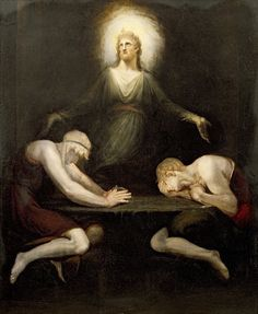 Henry Fuseli, Swiss painter, draughtsman and writer, was born on this day in 1741. This is his The Appearance of Christ at Emmaus, 1792. https://en.wikipedia.org/wiki/Henry_Fuseli