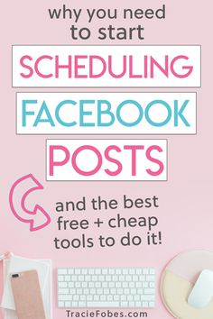 Facebook is still an easy way to get blog traffic. There are some super smart - and free - ways to schedule your Facebook posts to your group or page.