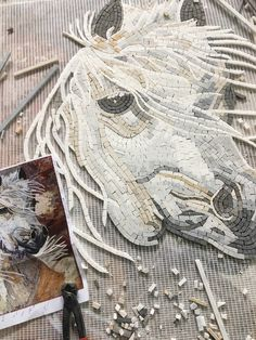 Mosaic Work In Progress - Mosaic Art - Horse Mosaic - Mosaic Designs - Handmade Mosaic Art - Wip Mosaic Design Ideas | #Mozaico
