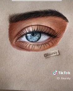 Art Drawings Beautiful, Art Drawings Sketches Simple, Pencil Art Drawings, Realistic Drawings, Cool Drawings, Color Pencil Art, Art Sketchbook, How To Paint Eyes, Makeup Eyes