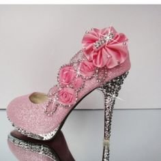 Fashion Round Closed Toe Stiletto Super High Party Pink Suede Pumps on Chiq