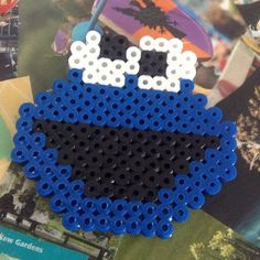 Cookie Monster perler beads by perler_bead_ideas