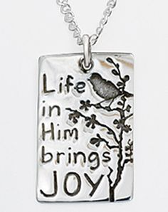 Sterling Silver Joy Necklace - Christian Necklace for $50.40 | C28.com