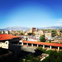 Love this view of Downtown Albuquerque, the Rail Runner & mountains, from black_Steele via Instagram! #NMTrueHeritage See it on your next visit!
