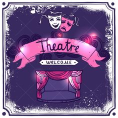 Buy Theater Poster Sketch by macrovector on GraphicRiver. Theater performance promo poster sketch with masks stage curtain and ribbon banner vector illustration. Stage Curtains, Theater, Comedy, Presentation Design Template, Ribbon Banner, Drama, Opus, Emblem, Banner Vector