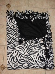 Items similar to 46 X 60 in. Zebra Fleece Tie Blanket on Etsy Fleece Tie Blankets, No Sew Fleece Blanket, No Sew Blankets, Diy Ideas, Craft Ideas, Sewing Class, Blanket Patterns, Brighten Your Day, Animal Prints