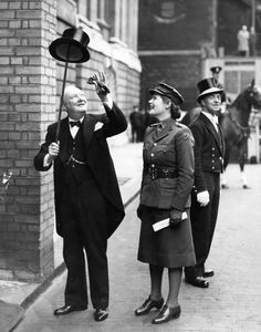 Winston Churchill with His Daughter Mary, London, 1943