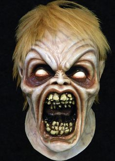 EVIL ED MASK - From the classic cult horror movie Evil Dead II comes this great over-the-head latex Evil Ed mask.