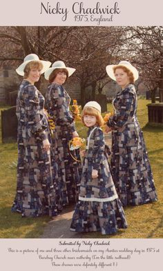 The Vintage Wedding Gallery ~ A Saturday Update. i so love this for maybe a vintage wedding Vintage Wedding Photos, Vintage Bridal, Wedding Pics, 1970s Wedding, Wedding Ideas, Bad Bridesmaid Dresses, Brides And Bridesmaids, Ugly Wedding Dress, Wedding Dresses
