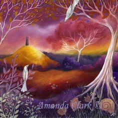 Meeting Place. art print by Amanda Clark от earthangelsarts, £16.00