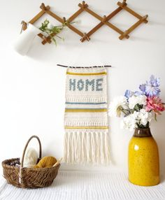 Crochet Pattern Home Wall Hanging Country Style