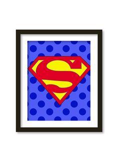 Super hero art kids wall art boys room decor  by babiesartroom, $16.00
