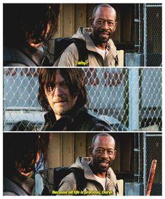 All life is precious. S5E16  Morgan & Daryl