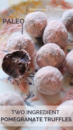 Two Ingredient chocolate truffles  |  Empowered Sustenance