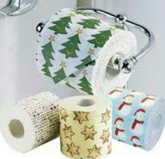 Papel higiênico natalino