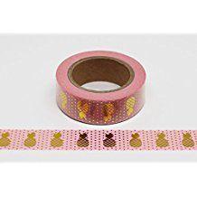 wolga-kreativ Washi Tape Ananas gold rosa Masking Tape Dekoband Klebeband