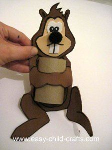 Toilet Paper Roll Craft, feed him with nuts that have letters on them