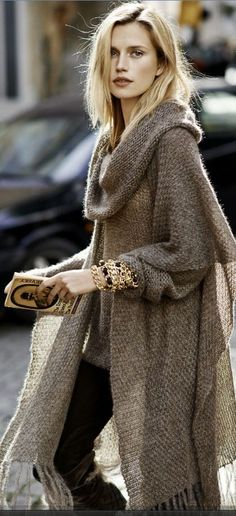 Fall street fashion.