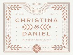 Wedding Invitations  by Christina (Berglund) Fischer