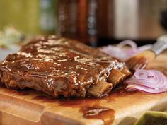 Double Rack Of Pork With Burnt Orange-Caramel Pan Sauce Recipe ...