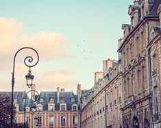 Paris Photography, Landscape Photography, Fine Art Paris Photo, Pastel Colors - Place de Vosges (8x10)