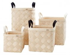 VERSO DESIGN | LASTU BIRCH BASKET S | バスケット (white handles)