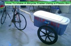 How To Make A Bicycle Trailer Using a Plastic Bin | living Green And Frugally