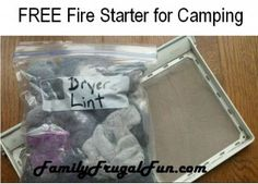 FREE Camping Fire Starter - Frugal Tips for camping on the cheap!