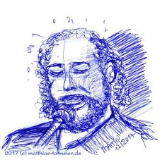 """Ballpoint Doodles - Barry White (1) "" - 2017 I started with Barry White and I like to end this year with his music, which was my supporting ""Soundtrack 2017"". I adore many musicians, but only his music let me feel ""forever young"" and let me forget for hours, that I'm already way too old for disco! #barrywhite #doodle #portrait #drawing #ballpointpen  #sketch"