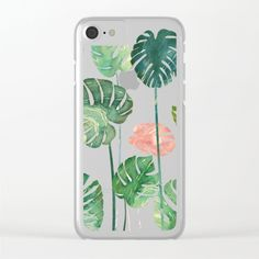 Shop clear iphone cases, for iPhone X, iPhone iPhone 7 & iPhone 6 models, featuring brilliant patterns and designs on frosted, transparent shells - created by thousands of artists from around the world. Iphone 6 Models, Iphone 8, Iphone Cases, Back To School, Smartphone, Tropical, Pattern, Gifts, Palm