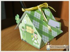 "PRINTABLE GIFT (or treats) BOX ""Lucky house"" (digital template)"