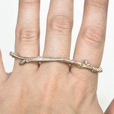 Triple twig ring.