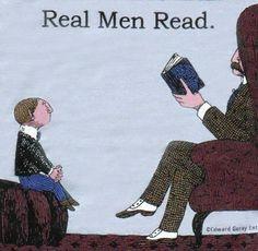 Real men read.