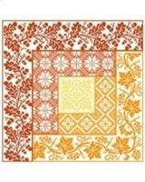 Log Cabin Autumn (chart) by Gracewood Stitches/ Kathy Bungard