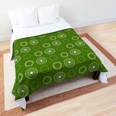 White Dandelion, Make Your Bed, College Dorm Bedding, Twin Xl, King Size, Comforters, Blanket, Pillows, Pattern