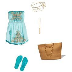 98 by esmama on Polyvore featuring polyvore fashion style Calypso St. Barth Old Navy Gorjana