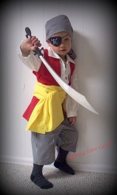 Pirate Costume for Child by SeamsSewGood on Etsy, $65.00