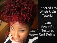 Short Natural Hair Tutorial Video | Tapered Curly Fro