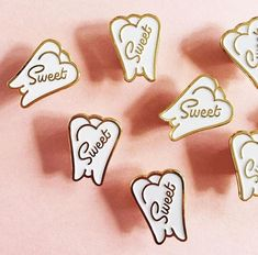 Sweet Tooth Pin - $10.00  https://gimmeflair.com/products/sweet-tooth-pin