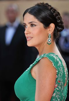 Actress Salma Hayek arrives at the Indiana Jones and The Kingdom of The Crystal Skull Premiere at the Palais des Festivals during the 61st International Cannes Film Festival on May 18 , 2008 in Cannes, France