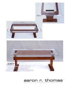 Manhattan Table - Modern Acrylic Furniture by Aaron R. Thomas