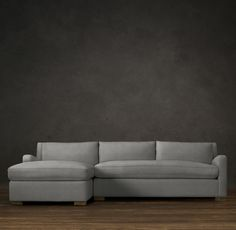 Belgian Slope Arm Upholstered Left Arm Sofa Chaise Sectional