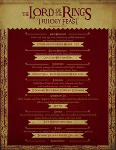 Lord of the Rings Inspired Food Cuisine @ Alamo Drafthouse in Austin Texas! Trilogy Feast Featuring 8 Lord of the Rings Meals. - I Watch Things Lembas Bread, Hobbit Party, Alamo Drafthouse, Second Breakfast, Course Meal, Party Rings, Fiction, Food Themes, Middle Earth